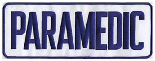 Large Paramedic Back Patch Badge Emblem 11X4 Navy/white