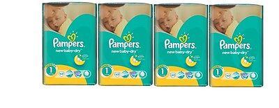 129 (3x43) Pampers Windeln New Baby DRY Gr. 1, 2-5 KG (Gewicht: 2-5KG) 100% ORGI