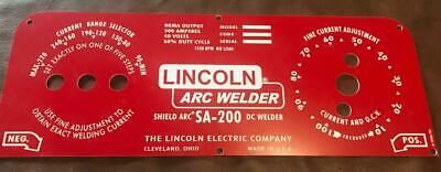 Lincoln Electric Arc Welders Red Face Laser Engraved Plastic Name Plate