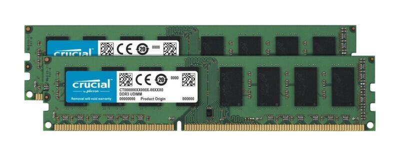 Crucial 8GB (2x 4GB) 240-Pin DDR3L-1600 PC3-12800 Module Kit CT2K51264BD160B