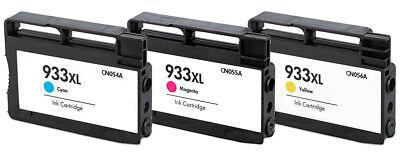 3PK 933 XL Ink Cartridges for HP Officejet Pro 6100 6600 6700 7610 Printers ()