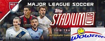 2018 Topps Stadium Club MLS Soccer HUGE Factory Sealed HOBBY Box-2 AUTOS