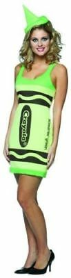 Screamin' Green Crayola Crayon Tank Dress Costume Adult Standard One Size ()