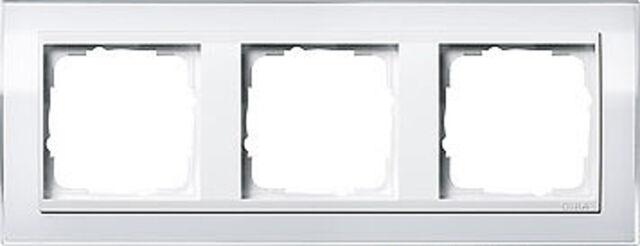 0213723 Gira weißer Abdeckrahmen Event, 3fach, reinweiße Zentraleinsätze
