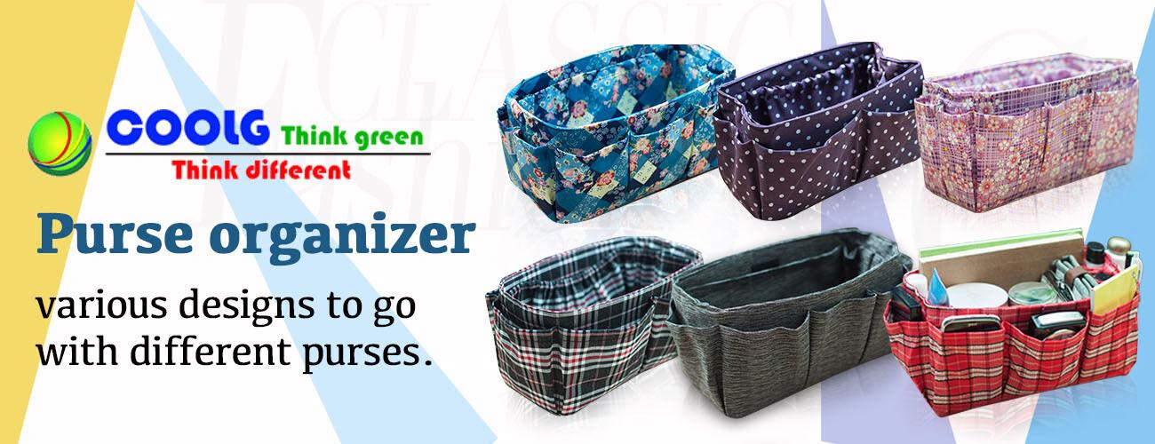 Handmade purse organizer insert