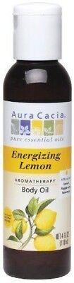 Energizing Lemon Aromatherapy Body Oil by Aura Cacia 4 oz bottle