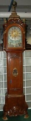 Important Dutch Long Case Clock Stamped AJ Van Bergh A. Rotterdam #7646