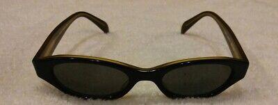 Ladies Donna Karan Brown Sunglasses Black Lenses DK 9807S EUC Free (Donna Karan Sunglasses)