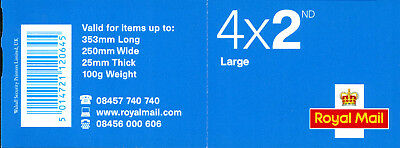 GB 2006 RA1 SB2(7)  4 x 2nd Class Large Self Adhesive Cylinder Booklet