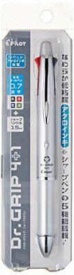 Pilot Dr. Grip 41 0.7mm 4-color Ballpoint Pen 0.5mm Mechanical Pencil Silver