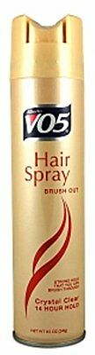 2 Pack - VO5 Hair Spray Brush Out Crystal Clear, 14 Hour Hold 8.5 oz (Out Hold Hair Spray)