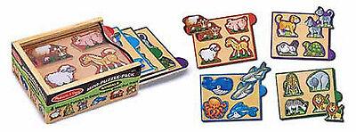 Melissa & Doug Animals Mini-Puzzle Pack #4790  BRAND NEW