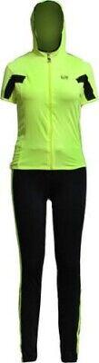 LEE HANTON LSS1085 LADIES 2 PIECE SPORT TRACK SUIT SET Black/Neon Green (Ladies 2 Piece Suits)