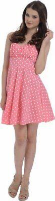 50's Retro Rockabilly Polka Dot Halter Dress](50s Polka Dot)