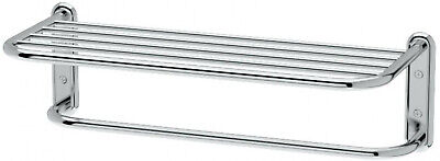 Vogue Chrome Towel Bar (Modern Chrome Hotel Style Towel Rack Sturdy Shelf And Bar Holds Up To 10)