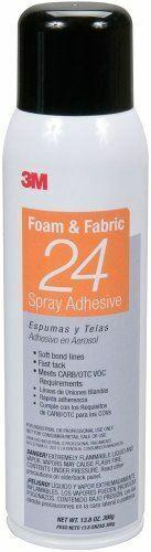 3M Foam & Fabric 24 Spray Adhesive Orange 20 fl oz 62492349204