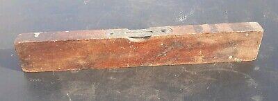 Antique Vintage Wood 12 Inch Level, Old Primitive Carpenter Tools