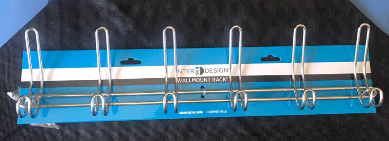 InterDesign 44032 12 Hook Chrome Wall Mounting Rack