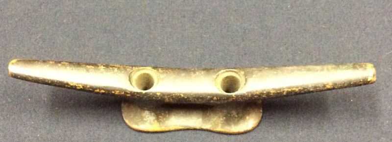 Unbranded Antique Brass/ Bronze Boat Cleat 6 Inches U5