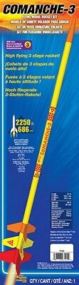 New Estes Comanche 3 Three Model Rocket Kit Skill Level 3 ESTT7245 7245 3 Model Rocket Kit