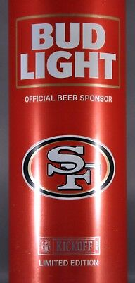 BUD LIGHT Aluminum Red Bottle KICKOFF 2017 San FRANCISCO 49ers Faithful Since 46