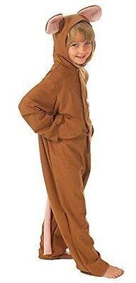 Mädchen Jungen Braun Maus + Quietschi Tier Büchertag Kostüm Kleid Outfit (Braun Maus Kostüm Kostüm)