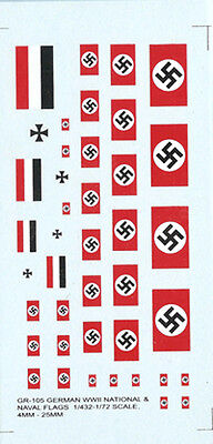 GR-105 - WWII German Flags - 1/76-1/285 Decals