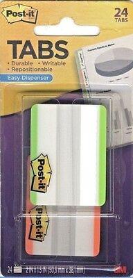 Post-it Note Tabs Notetabs 2x1.5 Easy Dispenser Assort Neon 24 Pk 686f-24lot