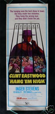 Hang Em High   Movie Poster Insert 1968 Clint Eastwood