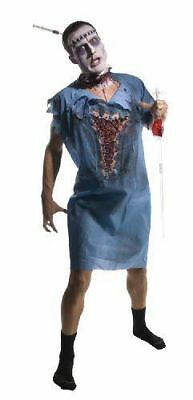 Zombie Patient Gown Hospital Doctor Fancy Dress Up Halloween Adult Costume - Halloween Costumes Hospital Gown