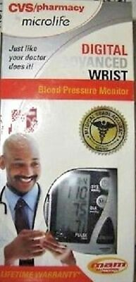 - NEW CVS MICROLIFE DIGITAL ADVANCED Automatic WRIST BLOOD PRESSURE MONITOR