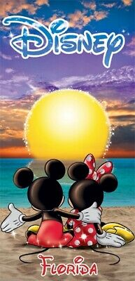 Disney Mickey Mouse Minnie Sunset Florida Beach Towel 28x58 Spring Summer (Disney Mickey Mouse Towels)