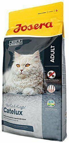 8 €/kg JOSERA Catelux Katzenfutter gegen Haarballenbildung 1 Spielmaus gratis2kg