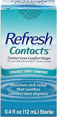 6 Pack - Refresh Contacts Contact Lens Comfort Drops  0.4 fl oz (12 ml) Each