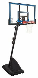 Spalding Polycarbonate Portable Basketball System, 50-in