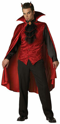 Dashing Devil Adult Mens Deluxe Halloween Costume](Men Devil Costumes)