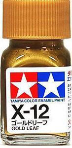 O TAMIYA COLOR GLOSS ENAMEL PAINT NEW 10ML X-12 GOLD LEAF AU
