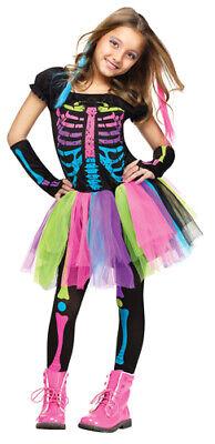 Girls Funky Punky Bones Skeleton Halloween Costume
