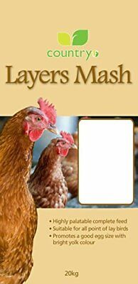Country 20Kg Chicken Layers Mash for Laying Poultry Hens From 18Wks Of Age