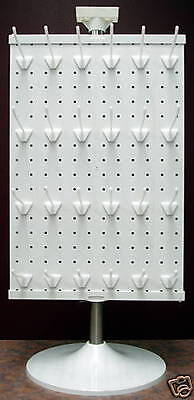 2 Sided Counter Top Peg Board Spinner Rack Display With Hooks