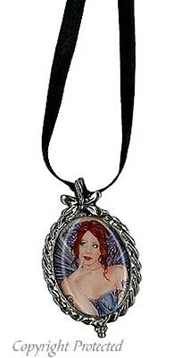 Marjolein Gulinski Thinking of You Faery Fairy Pewter Cameo Necklace