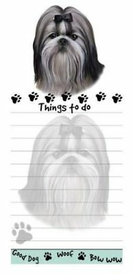 SHIH TZU DOG MAGNETIC GROCERY LIST PAD STICKY NOTES MAGNET REFRIGERATER
