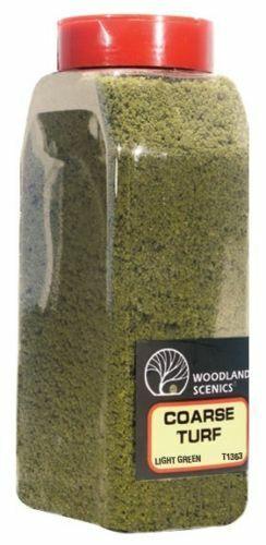 Woodland Scenics 1363 Turf Coarse LIGHT GREEN 32 oz Shaker - NIB