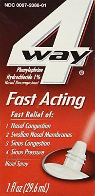 5 Pack 4 Way Fast Acting Nasal Decongestant Sinus Spray 1 Fl Oz each 4 Way Spray