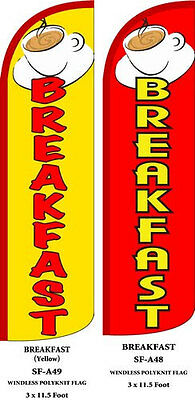 Breakfast Yellow Red Two 2 Swooper Feather Flag Kits With Hardware