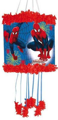 ULTIMATE SPIDERMAN PULL STRING PINATA & BLINDFOLD CHILDRENS BIRTHDAY PARTY GAME