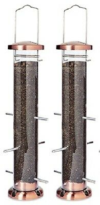 (2) ea Woodlink NATUBE5 Audubon 6 Port Nyjer Thistle Finch Tube Bird Feeder (Nyjer Tube Bird Feeder)