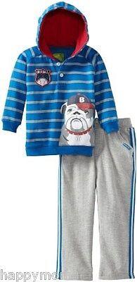 Watch Me Grow by Sesame Street Baby Boys Clothes 2 PCS Stripped dog Shirt 24M