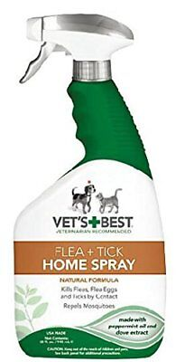 Pet Dog Natural Spray Fleas & Tick Control Mosquitoes Repels House Safety 32 oz