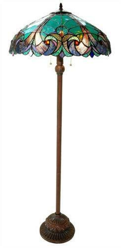 Floor Lamp Glass Shade Ebay